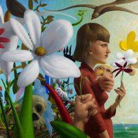 "Garden 2 (Flowers Come and Go)- Memento Mori, oil on linen, 48"" x 44"", 2011."