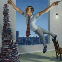 """Top Card (House of Cards), 2010, oil on linen, 60 x 48"""""""