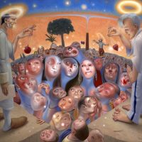 Hypnotica, oil on linen, 54 x 60 inches, 2005, (Abraham permanent Collection)