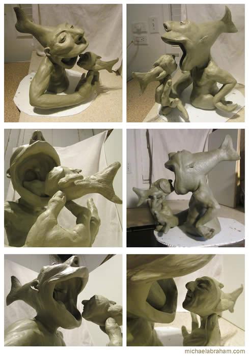 BigFishLittleFishCompositeMichaelAbrahamSculpture2013