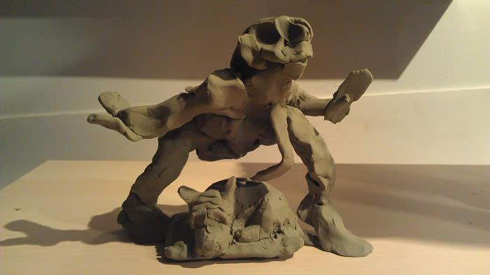michaelabrahamsculptureinprogressmaquette