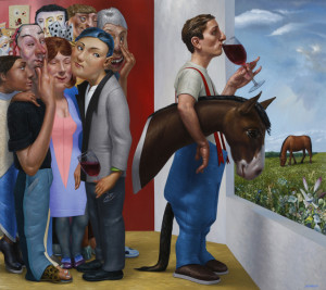 A Fine Bouquet – Urban, Suburban, Rural 2014, Oil on Linen, 48 x 54 inches