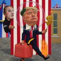 Trump, oil on linen, 36 x 30 inches, 2016