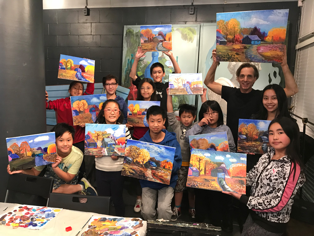 Art classes for Kids and Teens and Oil Painting Classes - Michael Abraham Studio Gallery