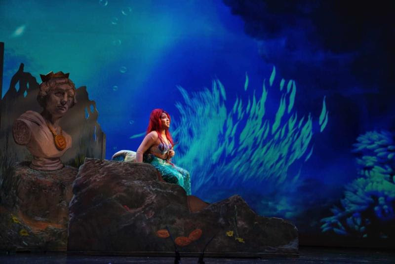 Children's Theatre of Richmond production of little mermaid jr - set design by michael abraham