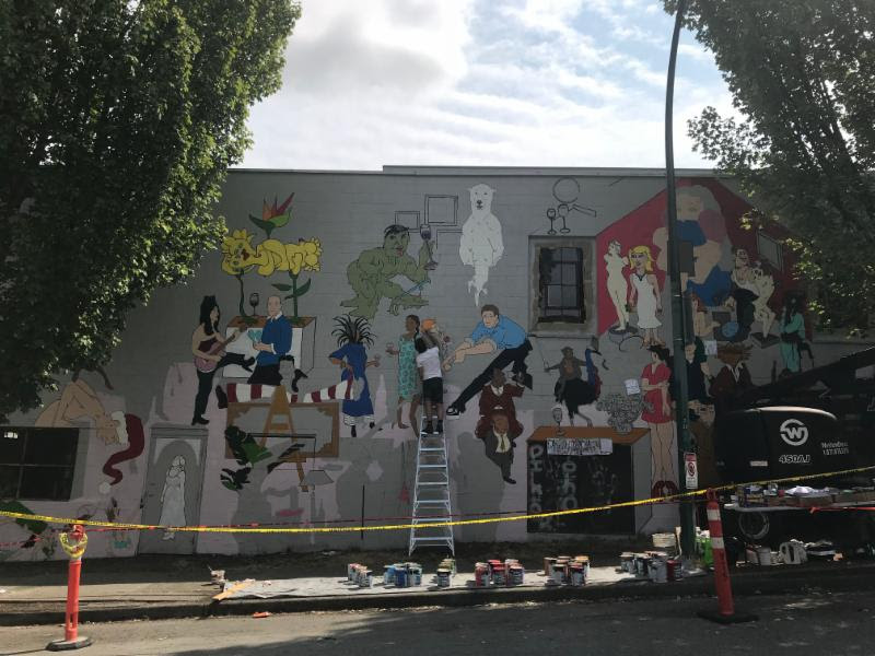 Vancouver Mural Fest 2018 Mount Pleasant - Phantoms in the Back Yard