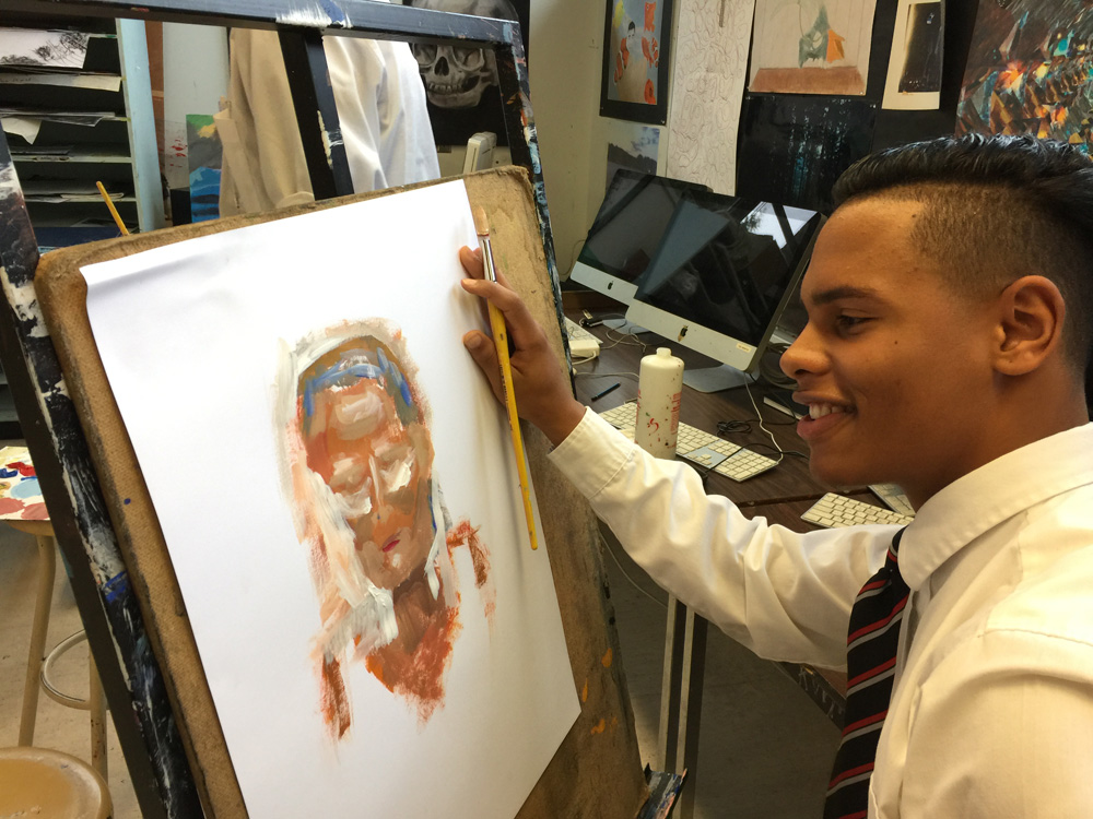 portrait from life painting - art classes for teens - Michael Abraham Studio Gallery