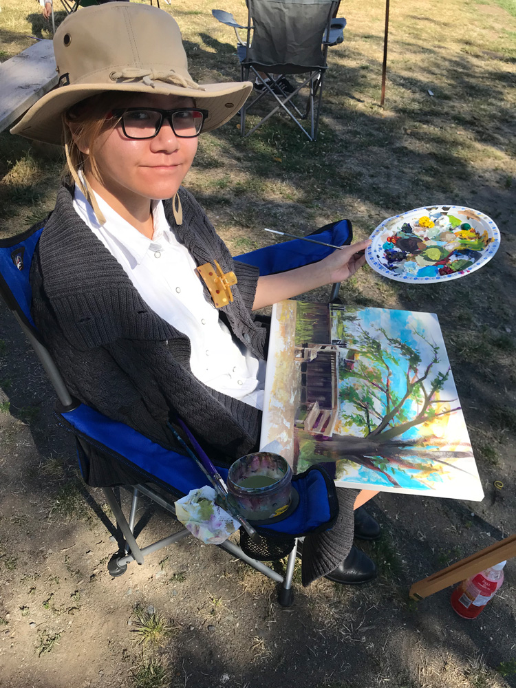 Outdoor landscape painting - art classes for teens - Michael Abraham Studio Gallery