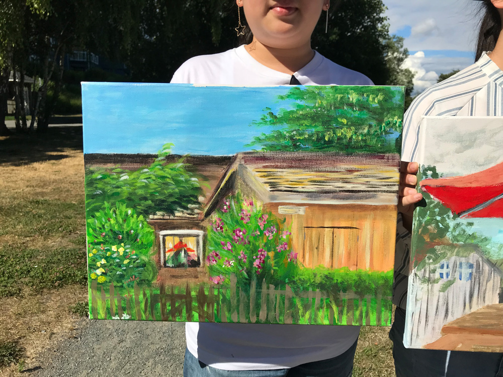 Cottage and landscape painting - art classes for teens - Michael Abraham Studio Gallery