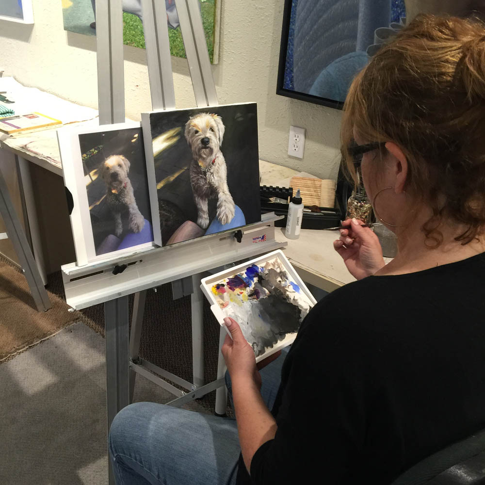 Dog Portrait - Adult Art and Painting lessons with Michael Abraham