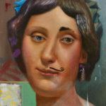 Portrait Painting mustache