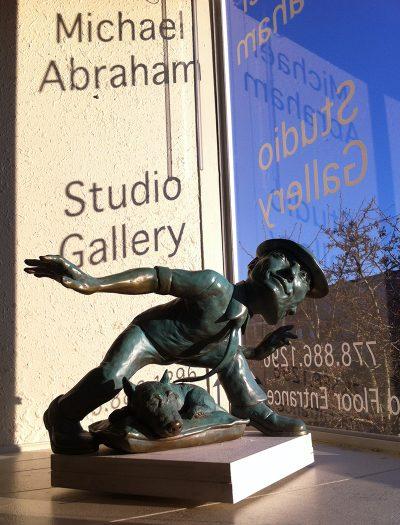 michael abraham artist studio gallery window art