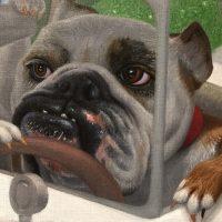 michael abrahamartist painting dog 2016 detail