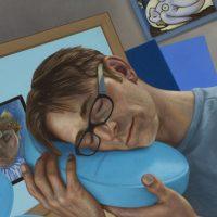 thumb_Michael Abraham_Sleeping Modernist_2015_oil on linen_22 x 18 inches