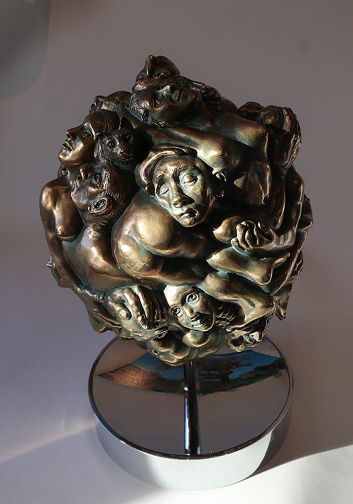 Michael Abraham Sculpture Wonder Ball Cluster Bronze IMG_2172 adjusted